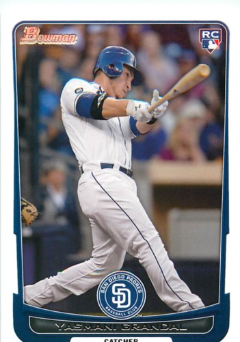 Photo of 2012 Bowman Draft #7 Yasmani Grandal Rookie Card