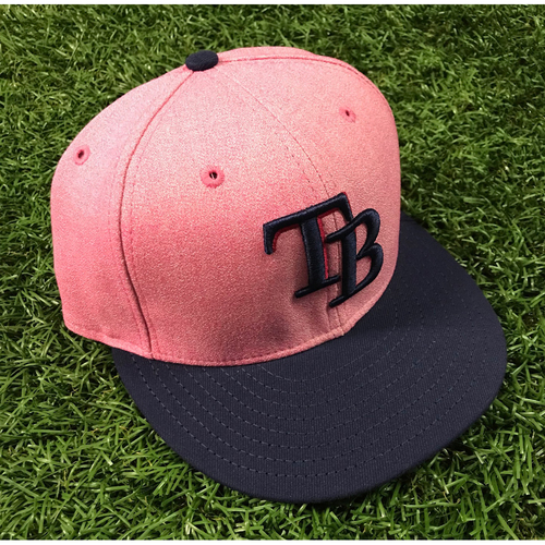 Photo of 2018 Mother's Day Game-Used Cap - Rocco Baldelli. Cap Size - 7 3/8
