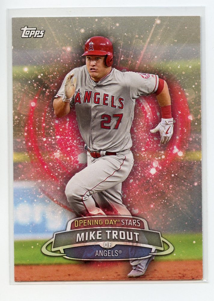 2017 Topps Opening Day Opening Day Stars #ODS33 Mike Trout