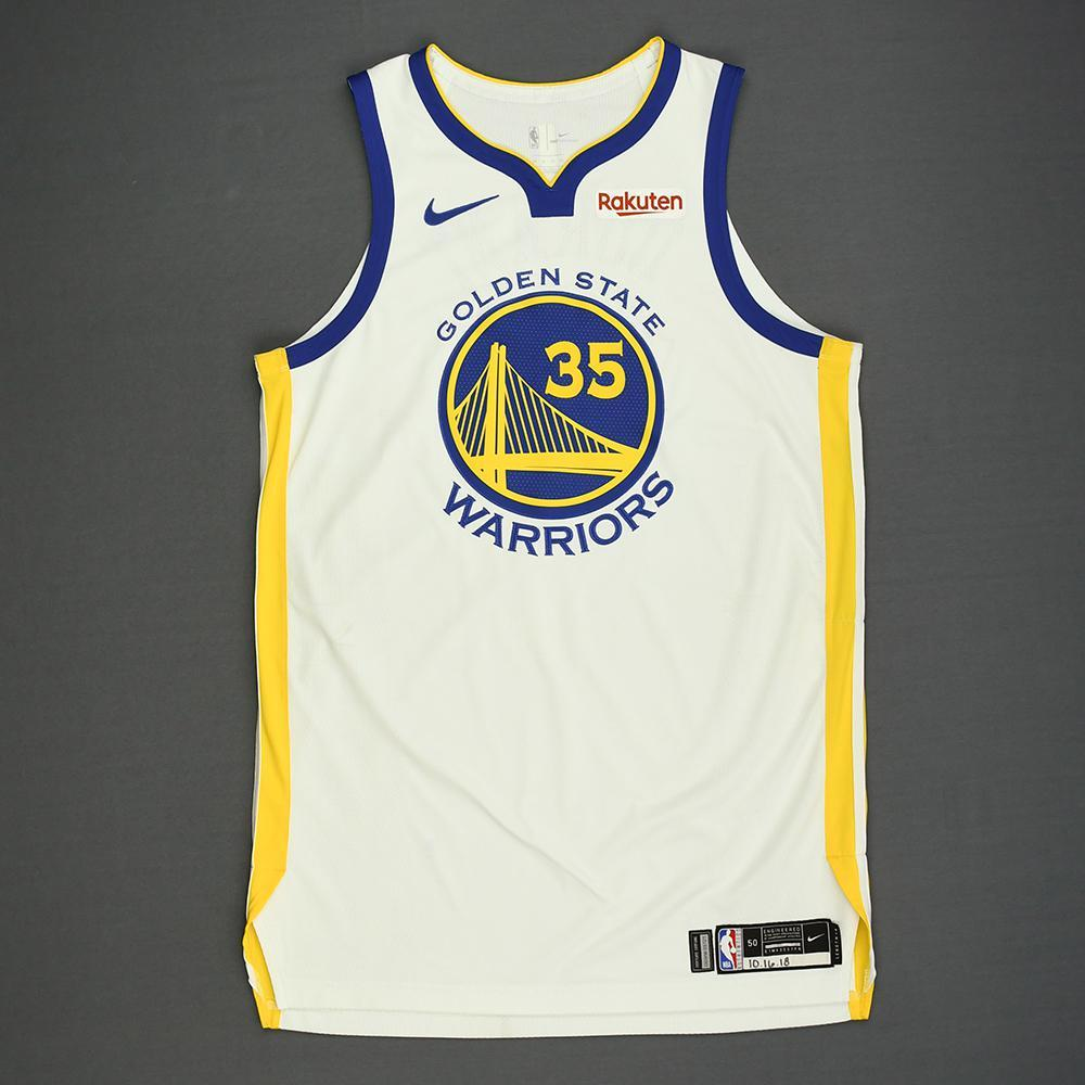 Kevin Durant - Golden State Warriors - Kia NBA Tip-Off 2018 - Game-Worn Association Edition Jersey