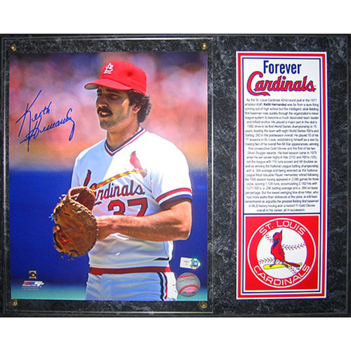 Photo of Cardinals Authentics: St. Louis Cardinals Keith Hernandez Autographed Photo Plaque - Forever Cardinals Collection