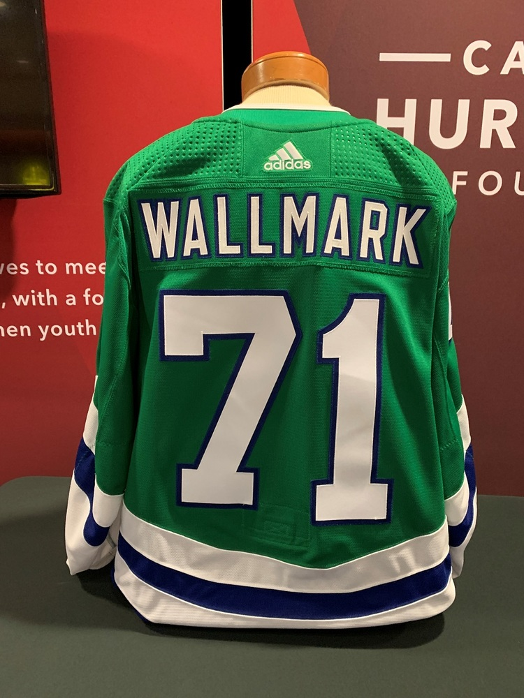 on sale 474dc ab4bd Lucas Wallmark #71 Autographed, Game Worn Hartford Whalers ...