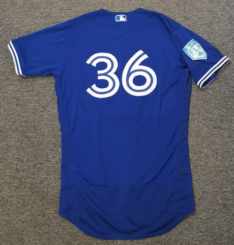 Photo of Authenticated Team Issued 2019 Spring Training Jersey - #36 Clay Buchholz. Size 44
