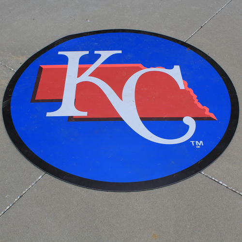 Photo of Game-Used On-Deck Circle: MLB in Omaha - Kansas City Royals (DET @ KC - 6/13/19)
