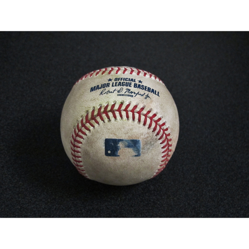 Photo of Seattle Mariners Game-Used Baseball: Pitcher - Sam Tuivailala, Batter - Vladimir Guerrero Jr. - Double - Top 8, 8/25/19 (TOR)