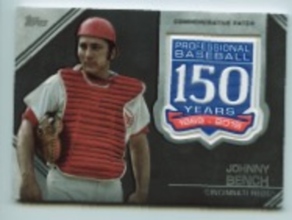 2019 Topps Update 150th Anniversary Manufactured Patches #AMPJBE Johnny Bench