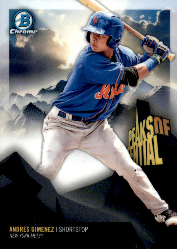 2018 Bowman Chrome Peaks of Potential Refractors #PPAG Andres Gimenez
