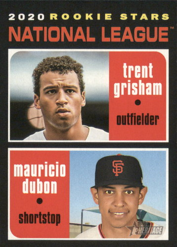 Photo of 2020 Topps Heritage #116 Trent Grisham RC/Mauricio Dubon RC