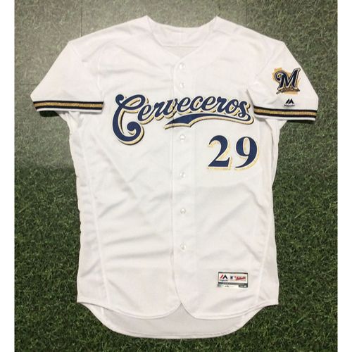 Photo of Tyler Austin 2019 Game-Used Cerveceros Jersey