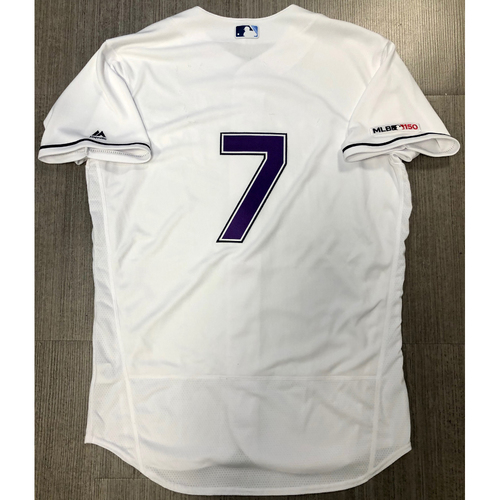 Photo of Team Issued Devil Rays Jersey: #7 (Number Only)