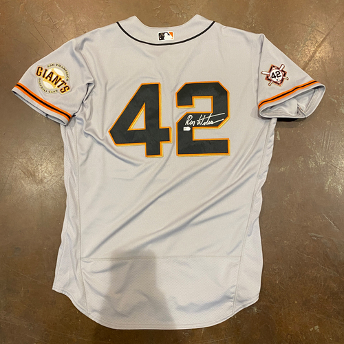 Photo of 2020 Jackie Robinson Day Jersey - Team Issued & Autographed - #23 Ron Wotus (Coach) - Size 48