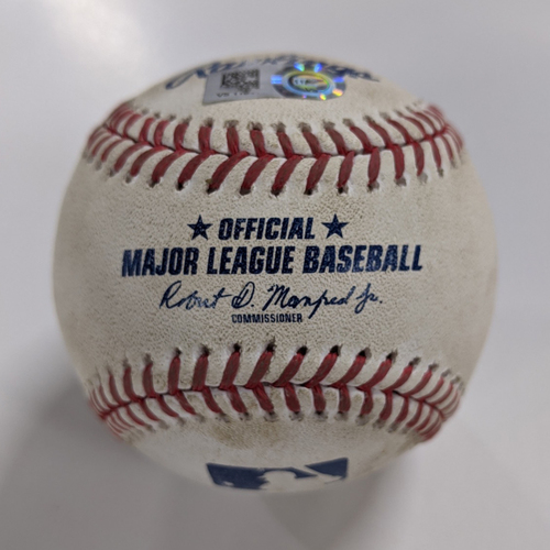 Photo of Game Used Baseball - 9/30/20 - Gio Urshela Grand Slam