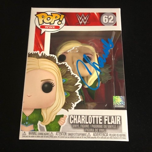 Photo of Charlotte Flair SIGNED POP! Vinyl Figure