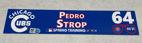 Photo of Pedro Strop 2021 Spring Training Locker Nameplate
