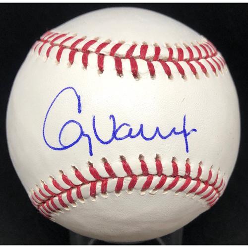 Photo of Greg Vaughn -  Autographed Official Major League Baseball