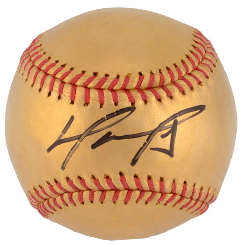 David Ortiz Boston Red Sox Autographed 24 Karat Gold Baseball - Limited Edition #1 of 34