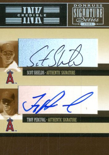 Photo of 2005 Donruss Signature INKcredible Combos #3 Scot Shields/Troy Percival T4