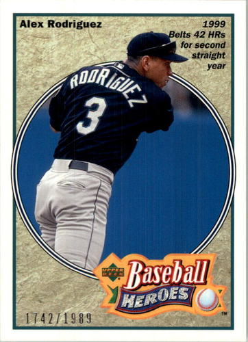 Photo of 2002 UD Authentics Heroes of Baseball #HBR5 Alex Rodriguez Mariners