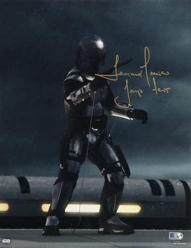 Temeura Morrison as Jango Fett 11x14 Autographed In Gold Ink Photo