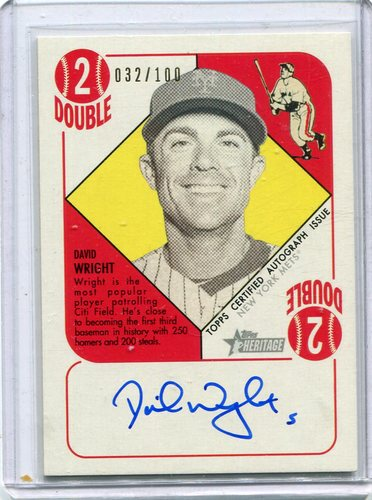 Photo of 2015 Topps Heritage '51 Collection Autographs David Wright 032/100