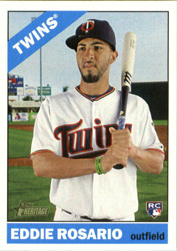 Photo of 2015 Topps Heritage #674 Eddie Rosario Rookie Card