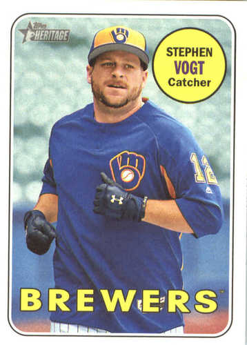 Photo of 2018 Topps Heritage #49 Stephen Vogt