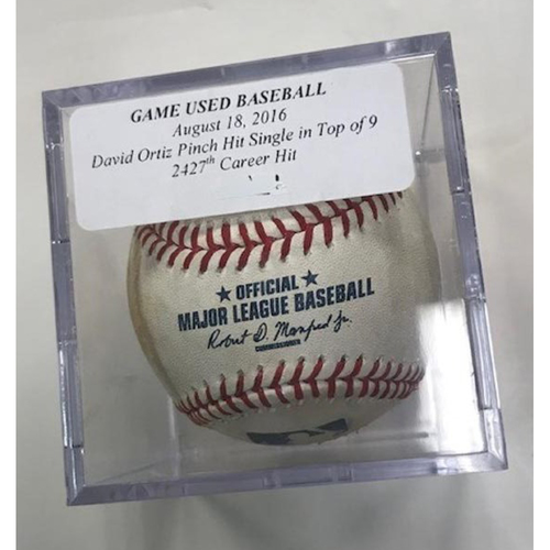 Photo of Game-Used Baseball: David Ortiz Pinch Hit Single- 2,427th Career Hit