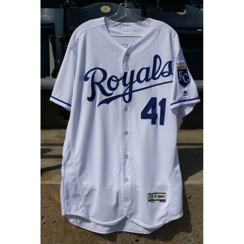 Photo of Game-Used Jersey: Danny Duffy (Size 46 - ARI at KC - 9/30/2017)