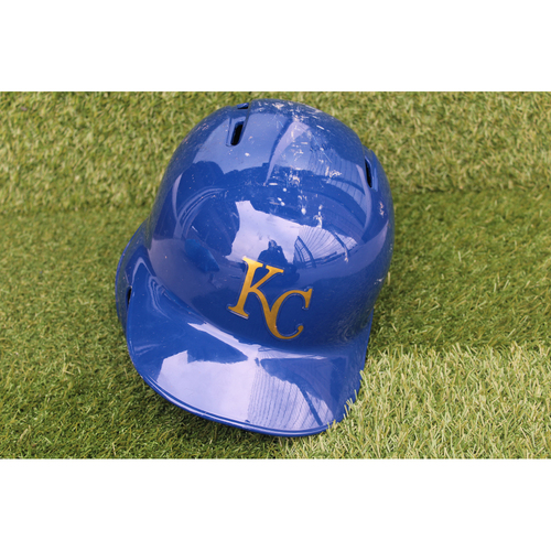 Photo of Game-Used Batting Helmet: Ryan O'Hearn 10th Career Double (Size 7 1/4 - CLE @ KC - 9/28/18)