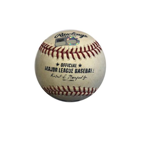 Photo of Game-used Baseball: 6/12/2015 Gomez vs. Harrison, Rodriguez, Singles (Autographed by Sean Rodriguez)