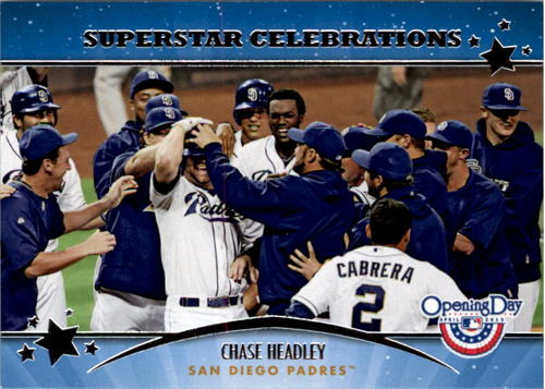 Photo of 2013 Topps Opening Day Superstar Celebrations #SC17 Chase Headley
