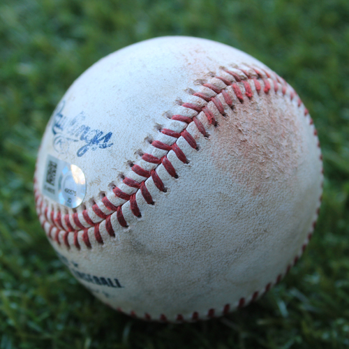 Game-Used Baseball: Yoan Moncada 255th Career Hit (CWS @ KC - 6/8/19)