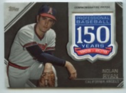 Photo of 2019 Topps Update 150th Anniversary Manufactured Patches #AMPNRY Nolan Ryan