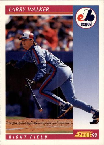 Photo of 1992 Score #199 Larry Walker