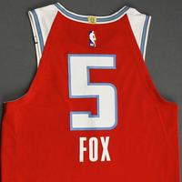 De'Aaron Fox - Sacramento Kings - Game-Worn City Edition Jersey - 2019-20 Season