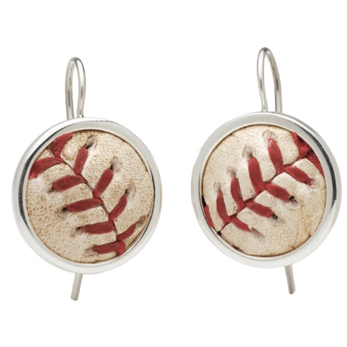 Photo of Game-Used Baseball Earrings: Whit Merrifield Hit