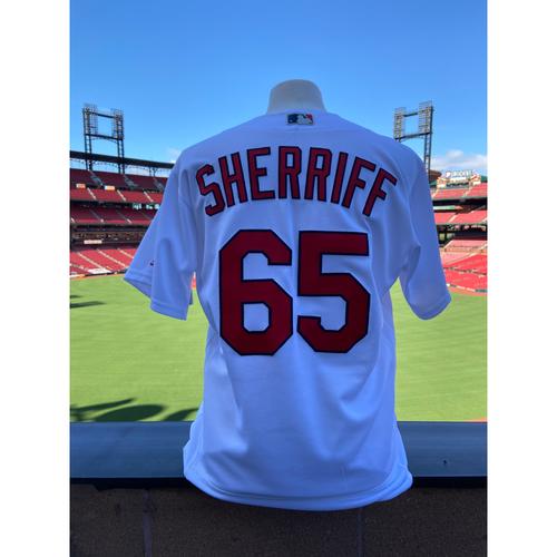 Photo of Cardinals Authentics: Ryan Sherriff Game-Used Home White Jersey