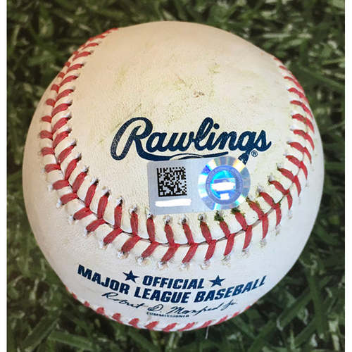 Photo of Game-Used Baseball STL@MIL 09/15/20 - Rob Kaminsky - Ryan Braun: Foul/Catcher's Interference, Run Scores