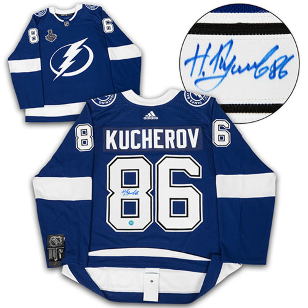 Nikita Kucherov Tampa Bay LIghtning Signed 2020 Cup Adidas Authentic Hockey Jersey