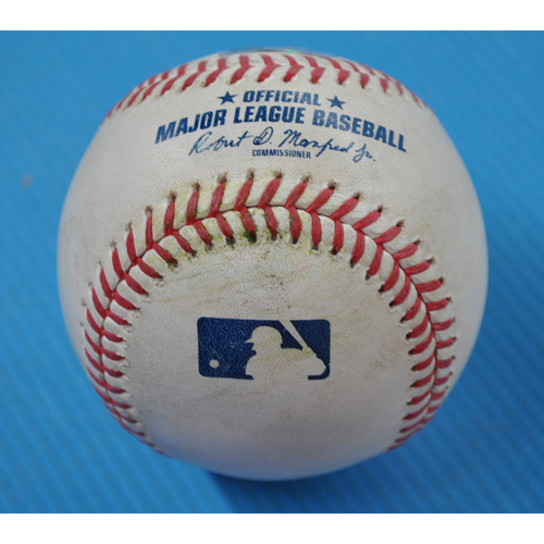 Photo of Game-Used Baseball - 2020 ALDS - Tampa Bay Rays vs. New York Yankees - Game 4 - Pitcher: Ryan Yarbrough, Batter: Luke Voit (Flyout to CF) - Bot 6