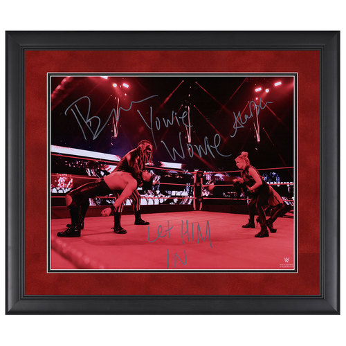 "Photo of Bray Wyatt and Alexa Bliss SIGNED 22""x26"" Framed Photo Yowie Wowie Version"