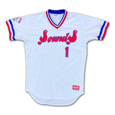 #49 Game Worn Throwback Jersey, Size 48, worn by Ryon Healy, Kendall Graveman, & Luke Barker.