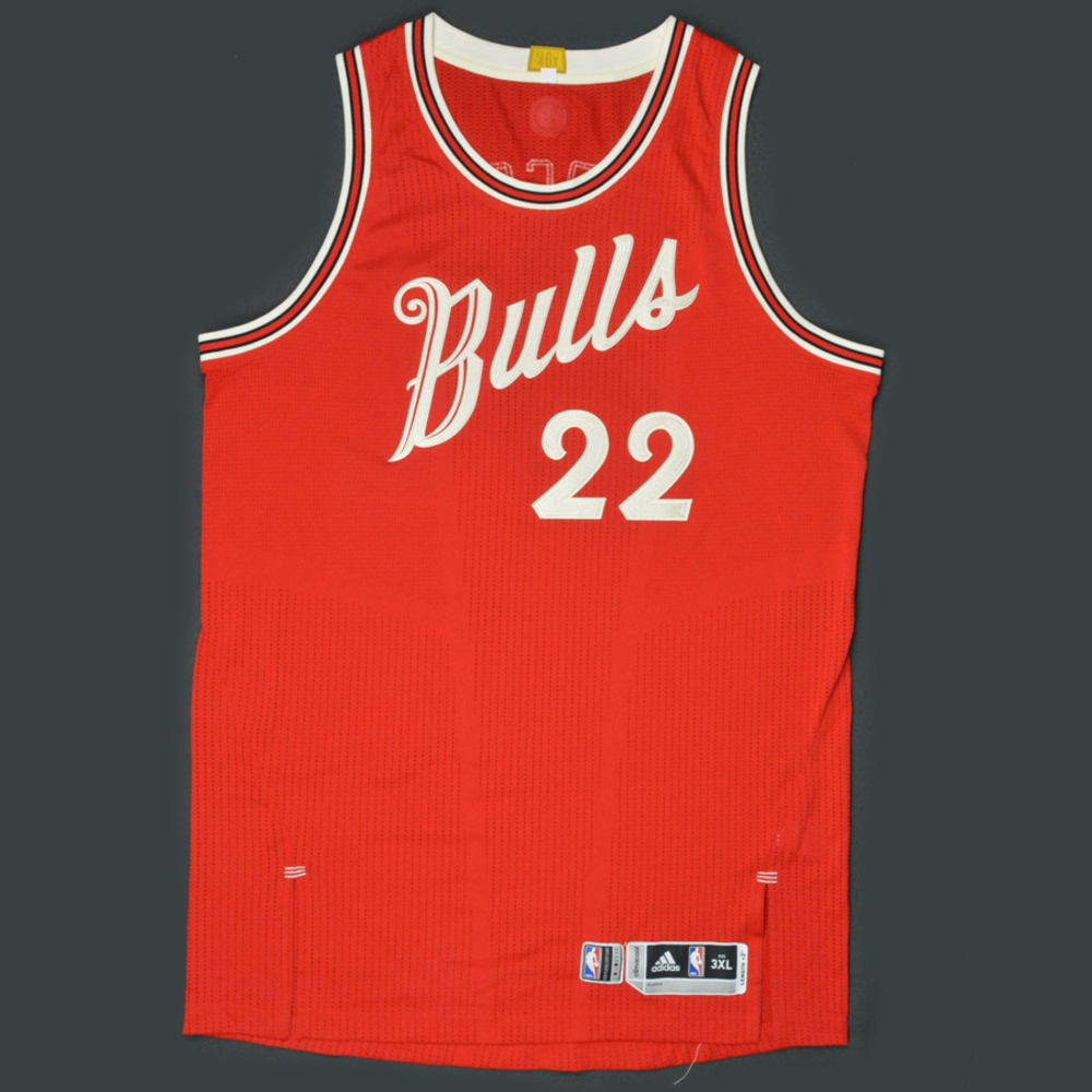 new arrival ebbb9 a70d0 Taj Gibson - Chicago Bulls - Game-Worn Jersey - NBA ...