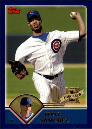 Photo of 2003 Topps Traded #T177 Felix Sanchez FY RC