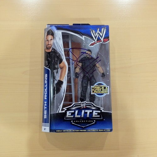 SIGNED Seth Rollins Elite Series 25 Action Figure