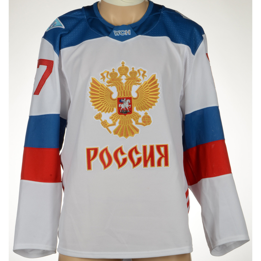 Artemi Panarin Chicago Blackhawks Game-Worn World Cup of Hockey 2016 Team  Russia Jersey 13bb5f881