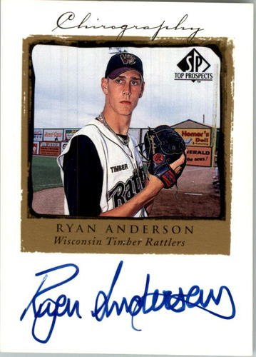 Photo of 1999 SP Top Prospects Chirography #RA Ryan Anderson