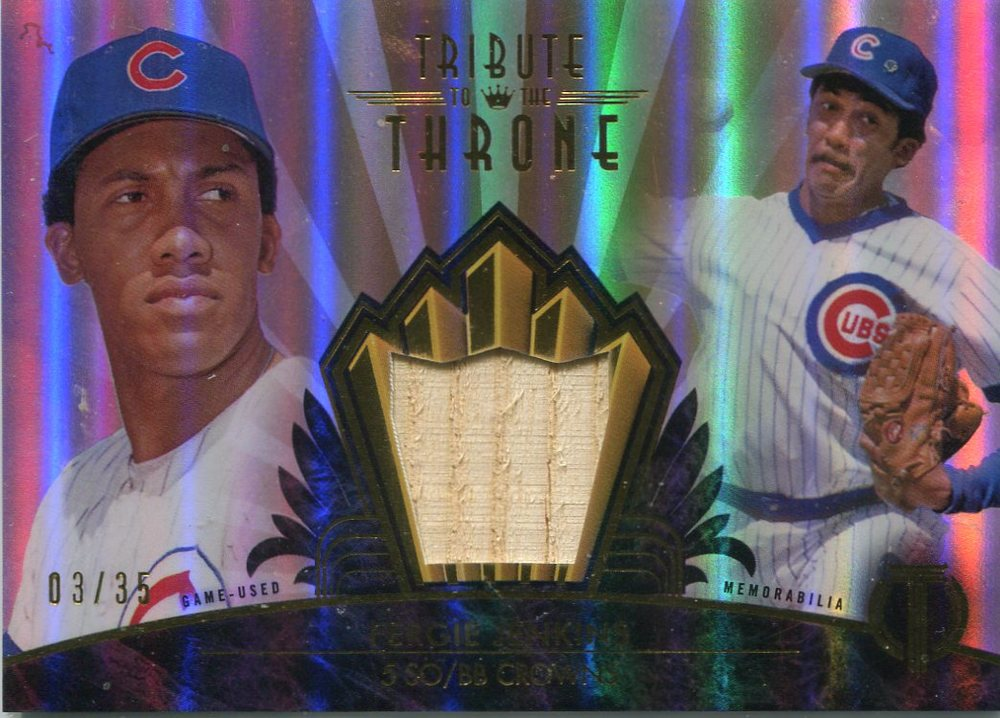 2014 Topps Tribute Tribute to Throne Relics Sepia  Fergie Jenkins 3/35