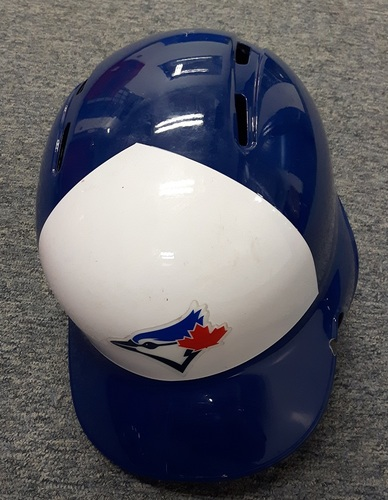 Photo of Authenticated Team Issued Helmet - #14 Justin Smoak. Size 7 1/4.