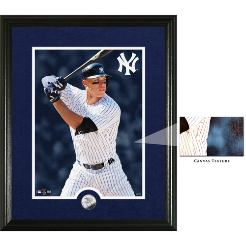 Photo of Aaron Judge 2017 AL Rookie of the Year Canvas Photo Mint